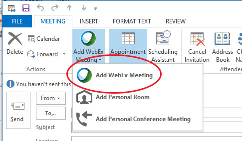 How to hosting webex outlook Work Smarter Curtin University